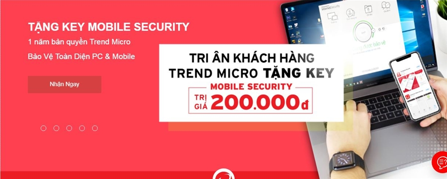 Mua Trend Micro Internet Security nhận ngay Key Mobile Security