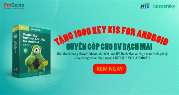Miễn phí 1.000 bản quyền Kaspersky Internet Security for Android